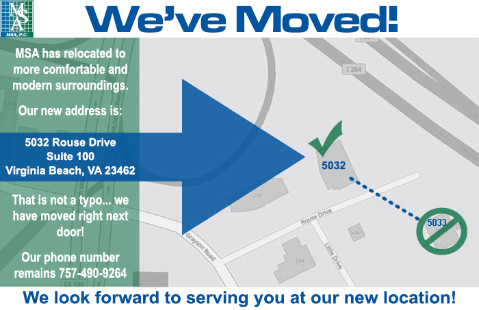 MSA has moved!.